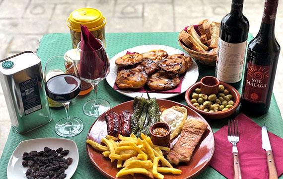 Menú de degustación de productos de Álora, Valle del Guadalhorce y Málaga