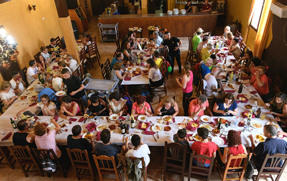 Dining room for serving larger groups of people from events or Caminito del Rey visitors